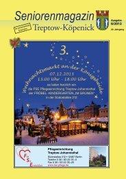 Seniorenmagazin Treptow-Köpenick - 6. Ausgabe 2013