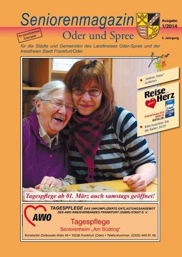 Seniorenmagazin Oder und Spree - 1. Ausgabe 2014