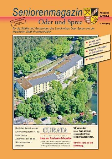 Seniorenmagazin Oder und Spree - 2. Ausgabe 2014