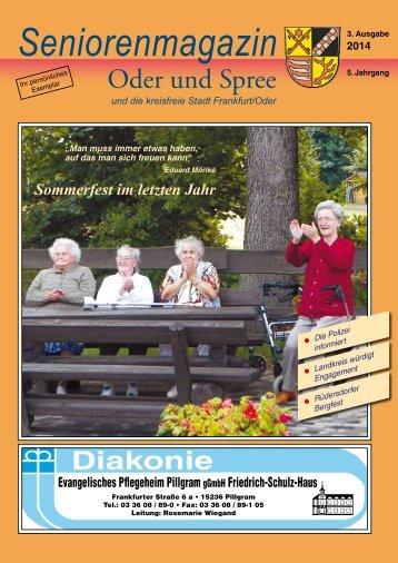 Seniorenmagazin Oder und Spree - 3. Ausgabe 2014