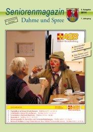 Seniorenmagazin Dahme und Spree - 3. Ausgabe 2014