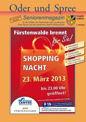 Seniorenmagazin Oder und Spree - 1. Ausgabe 2013