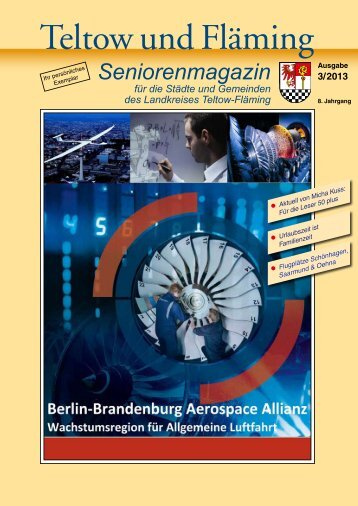 Seniorenmagazin Teltow und Fläming - 3. Ausgabe 2013