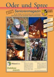 Seniorenmagazin Oder und Spree - 2. Ausgabe 2013
