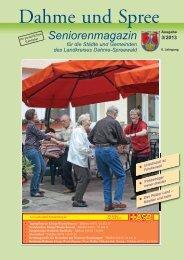 Seniorenmagazin Dahme und Spree - 3. Ausgabe 2013