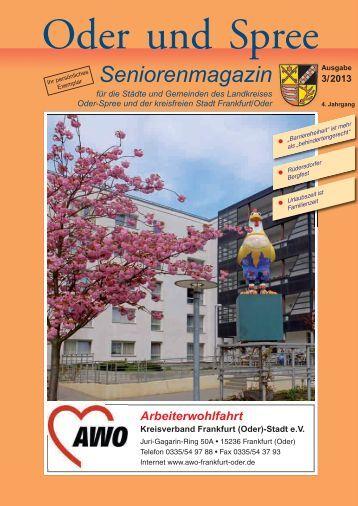 Seniorenmagazin Oder und Spree - 3. Ausgabe 2013