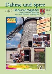 Seniorenmagazin Dahme und Spree - 4. Ausgabe 2013