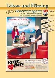 Seniorenmagazin Teltow und Fläming - 5. Ausgabe 2013