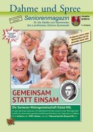 Seniorenmagazin Dahme und Spree - 6. Ausgabe 2013