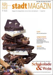 stadtMAGAZIN köln-süd | Ausgabe Oktober/November 2014