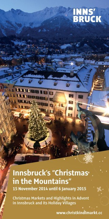"""Innsbruck's """"Christmas in the Mountains"""""""