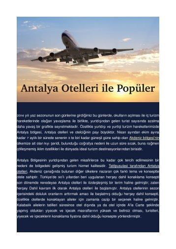 Antalya Otelleri ile Popüler