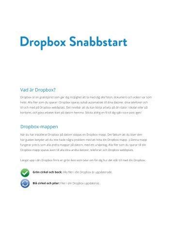 Dropbox Snabbstart