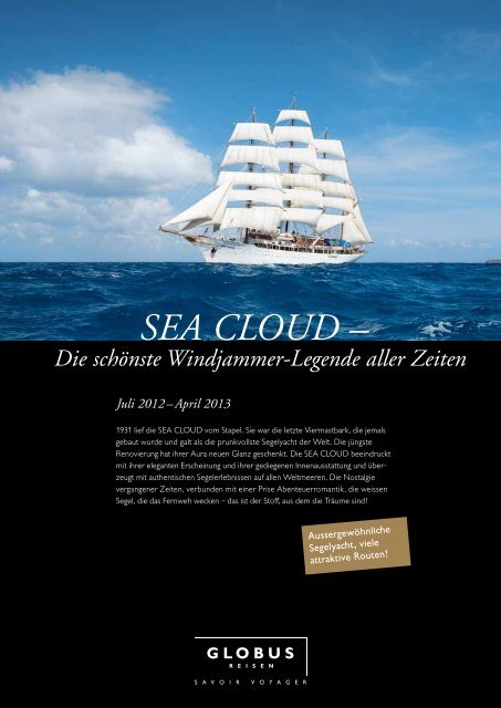 SEA CLOUD – - Globus Reisen