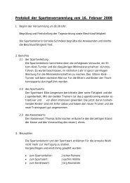Protokoll der Spartenversammlung vom 16. Februar 2008