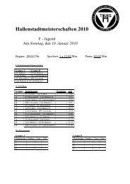 Hallenstadtmeisterschaften 2010 F - Jugend