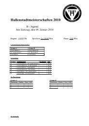 Hallenstadtmeisterschaften 2010 B Jugend