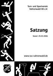 Satzung - beim TuS Vahrenwald 08
