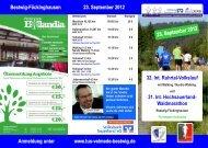 Flyer Volkslauf 2011 - TUS Velmede-Bestwig