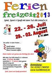Pressemitteilung vom 23. Mai 2013 > TuS 08 Lintorf