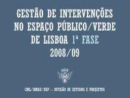 Gestão de Intervenções no Espaço Público/Verde de Lisboa - 1ª Fase 2008/09