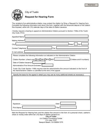 Request for Hearing or Exemption form - ECMC