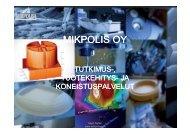 Mikpolis Oy:n testauspalvelut komposiittialan yrityksille, Nylen Aapo