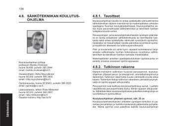 4.8. SÄHKÖTEKNIIKAN KOULUTUS - Tampereen teknillinen yliopisto