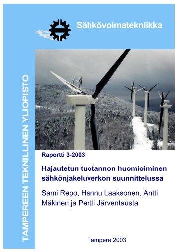 Sähkövoimatekniikka - Tampereen teknillinen yliopisto