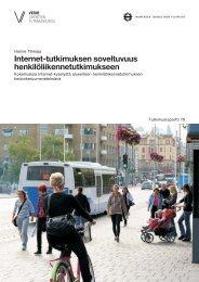 Internet-tutkimuksen soveltuvuus henkilöliikennetutkimukseen