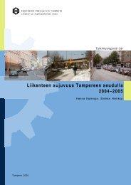 Liikenteen sujuvuus Tampereen seudulla 2004–2005 -raportti