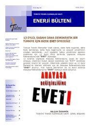 Tütev Enerji Bülteni Sayı 16 - Türkiye Teknik Elemanlar Vakfı