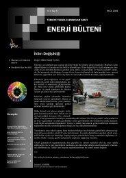 Tütev Enerji Bülteni Sayı 5 - Türkiye Teknik Elemanlar Vakfı