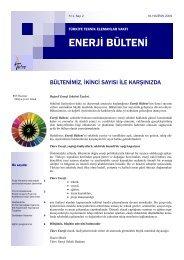 Tütev Enerji Bülteni Sayı 2 - Türkiye Teknik Elemanlar Vakfı