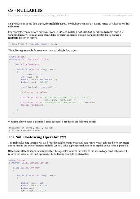 PDF Version - Tutorials Point