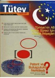 Tutev Teknik Dergisi 11.sayı