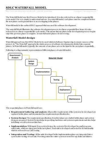 Sdlc V Model Tutorials Point
