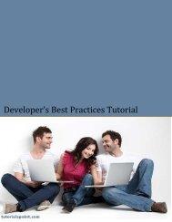 Download Developer's Best Practices Tutorial (PDF ... - Tutorials Point