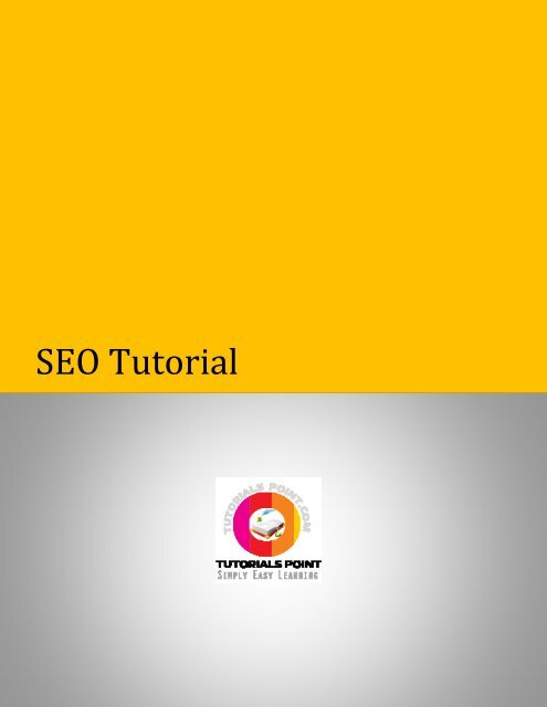 Download SEO Tutorial (PDF Version) - Tutorials Point