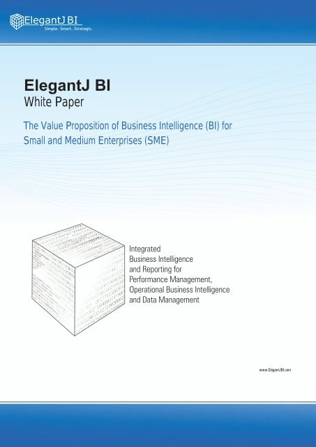 The Value Proposition of Business Intelligence (BI