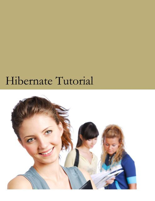Tutorial pdf beginners with hibernate for examples