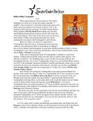 Hello, Dolly! Synopsis