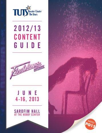 June 4 - 16, 2013 - Theatre Under The Stars