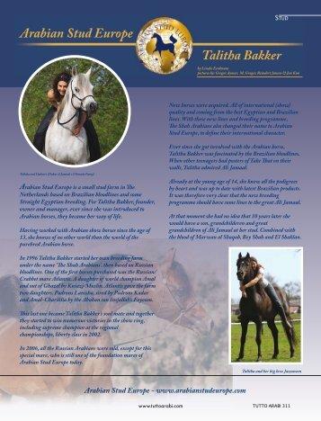 Arabian Stud Europe Talitha Bakker - tutto arabi