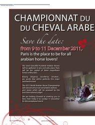 CHAmPIOnnAT DU mOnDE DU CHEvAl ARABE 31th ... - tutto arabi