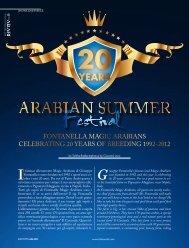 Fontanella Magic arabians celebrating 20 years oF ... - tutto arabi