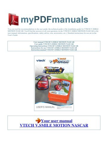 user manual vtech v smile motion toy story 3 1 rh yumpu com V.Smile PC PAL Pink VTech V.Smile
