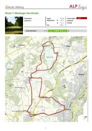 Nordic Walking Route 7: Maisinger-See-Runde - Tutzing
