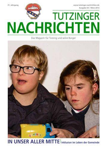 Download Heft 03 / März 2013 - Tutzinger Nachrichten