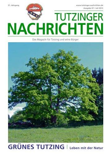 Download Heft 07 / Juli 2013 - Tutzinger Nachrichten